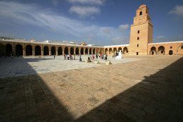The Great Mosque of Kairouan in Tunesia. Just one example of complex aesthetics espoused in Islamic architecture.