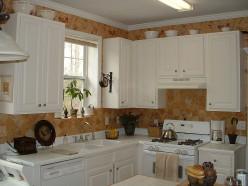 Medline Herringbone Kitchen Towels- White with Blue Stripe