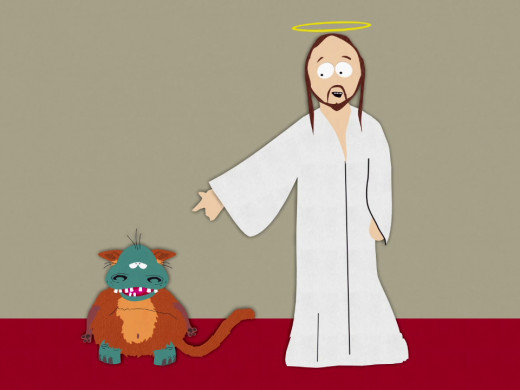 Jesus with God on South Park