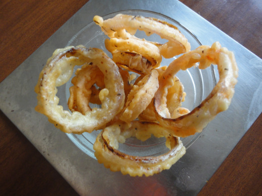 crispy,spiced Onion rings