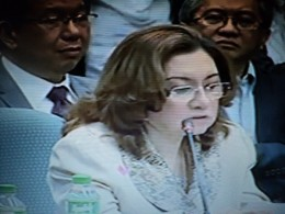 Ruby Tuason in the Senate Hearing