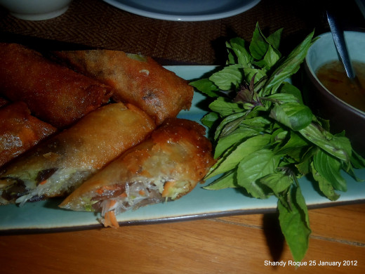 Chiang Dao Nest spring rolls