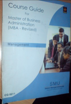 Course Guide of SMU for Master in Business Administration (MBA)