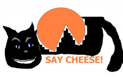 The cat gets the creamy cheese!