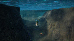 There's the entrance to the underwater cave