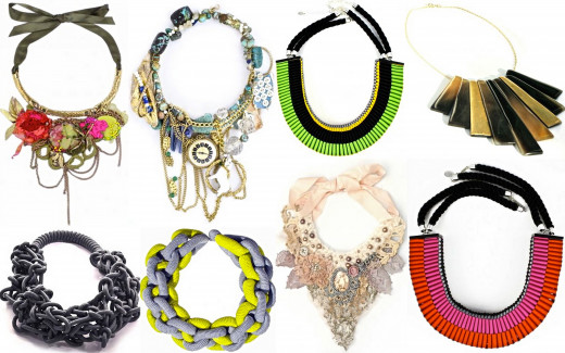 Variety of Statement Necklaces