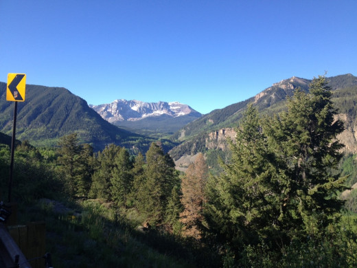 Amazing scenery coming out of Telluride
