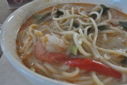 Tom Yum Gung with spaghetti