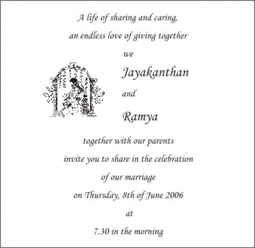 Hindu Wedding Cards Wordings In English For Friends Wedding – Indian Wedding Card Matter