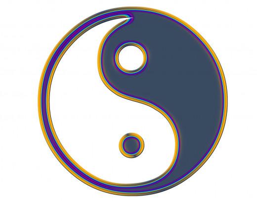 yin-yang symbol artwork