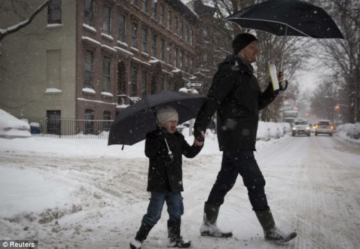 Walking children to school in the storm is dangerous, but it's not even an option in Staten Island for many parents