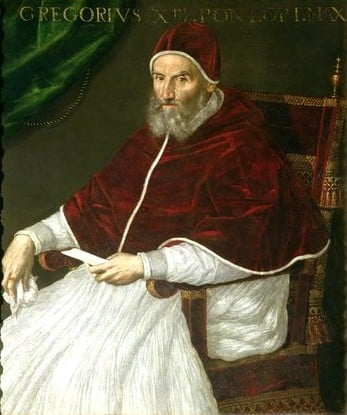 Gregory XIII (1502–1585), born Ugo Boncompagni,  Pope (1572-1585) Commissioned  and namesake of  the Gregorian calendar, in use today.
