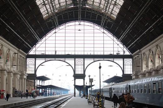 Keleti railway station in Budapest, Hungary. (Wikimedia)