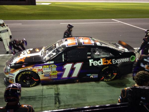 Hamlin's crew kept him in the race; luck and skill helped him win it