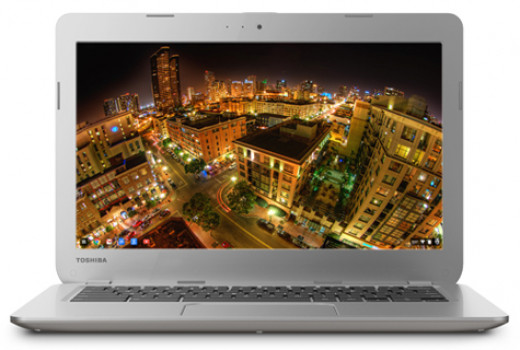 The 13-inch Toshiba Chromebook