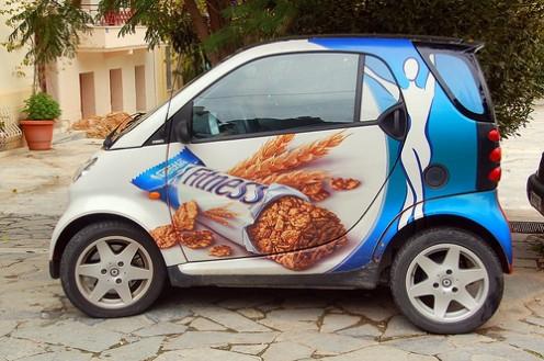Car Wrap Advertising - Smart Car