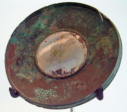 An Ancient Roman Mirror...The Romans associated mirrors with the Divine gods and royalty.