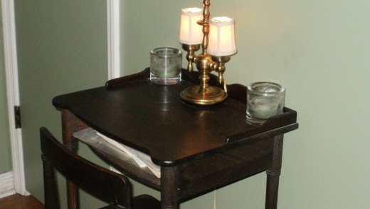 The antique desk