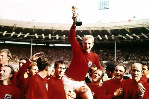 England - World Cup Champions - Bobby Moore Lifts the Jules Rimet Trophy