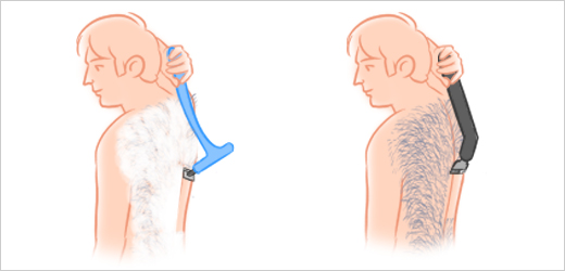 Step 2 - Begin Shaving Your Back