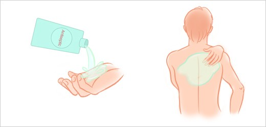 Step 4 - Apply Antiseptic to Your Back