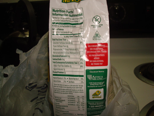 Here is the nutrition label