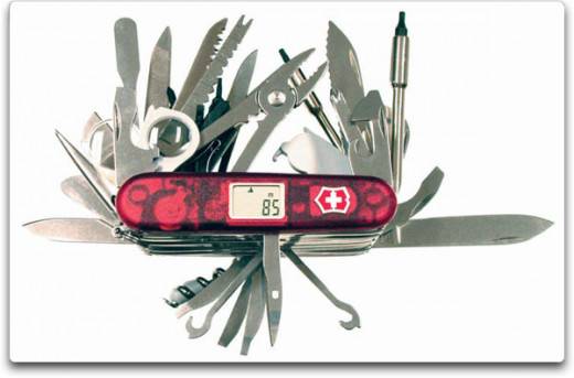 The top of the line XAVT. Almost every tool in one knife.