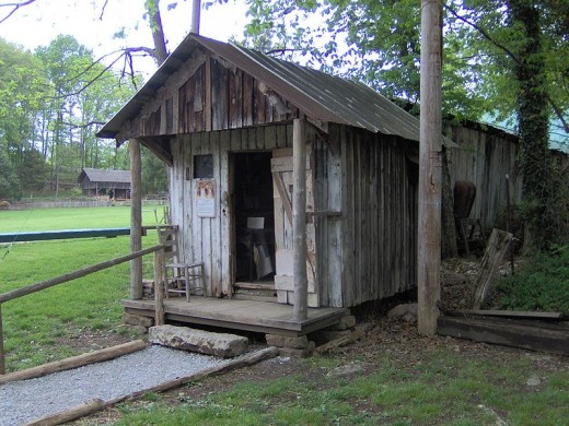 An historical house in the Appalachians. A prime example of how people in the Appalachians lived in the early 20th century.