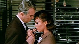 Scottie and Judy Barton in one of my least favorite scenes in the whole film. I mean, really?