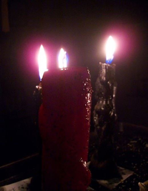 Candles are used in many Hoodoo workings for various reasons.