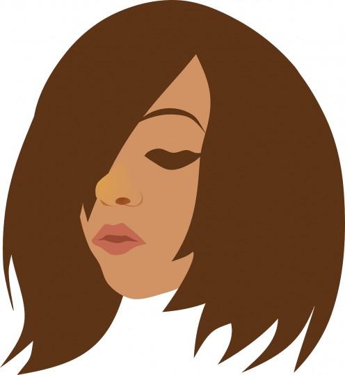 Beauty Brunette Face Girl Head Woman