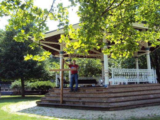 Preaching in a park in Bellefonte, Pa