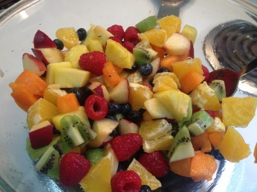 Colorful fruit salad.