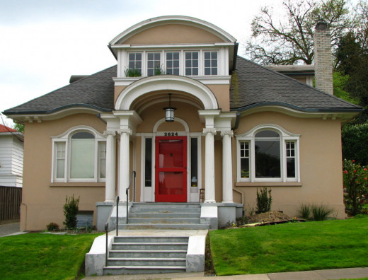A freshly painted house is a great solution to adding curb appeal.