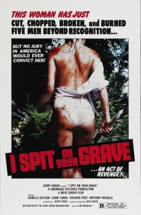 Although I didn't think the film glorifies violence against women, this poster might convince me otherwise.