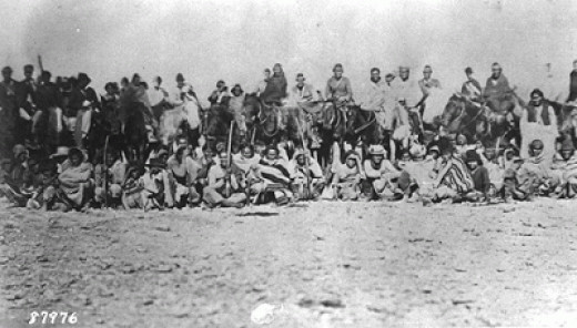 A picture taken during the Navajo Long Walk.