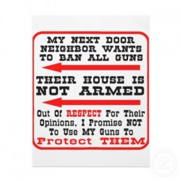 Banning guns arms criminals