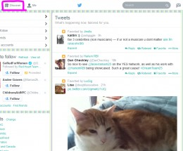 Clicking the #Discover menu will show you what's between the people you follow.