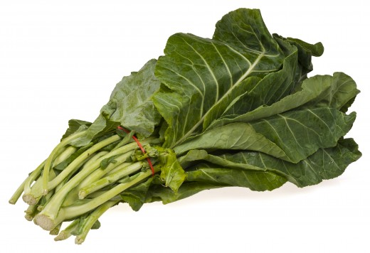 Collard greens are highly nutritious and tolerant to heat and cold.