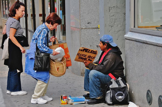 File: Helping the Homeless.jpg by Ed Yourdon CC-BY-SA-2.0