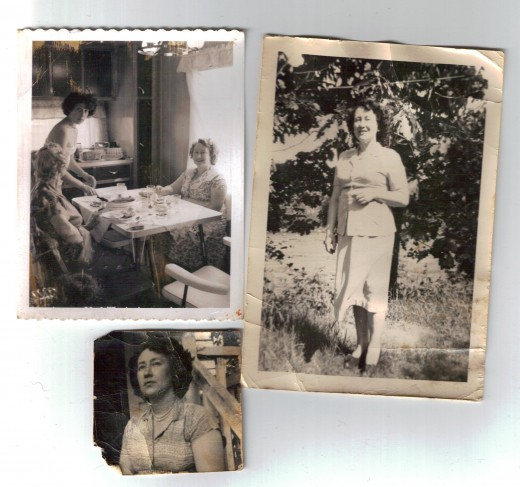 Beautiful Lena Brown, my Great-grandmother. In the top left hand corner, she sits, facing the camera, along with my grandmother (standing), and great-aunt... The one next to it, Granny-posing... and the small one, I like to think she is daydreaming.