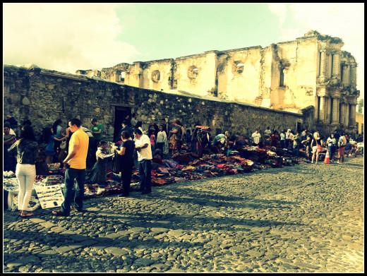 One of the many mercaditos (small markets) in Antigua