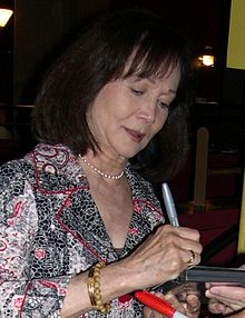 Nancy Kwan at the Grauman's Egyptian Theatre in 2011. She is still very active in the theatre and film world, writing, directing, and acting.