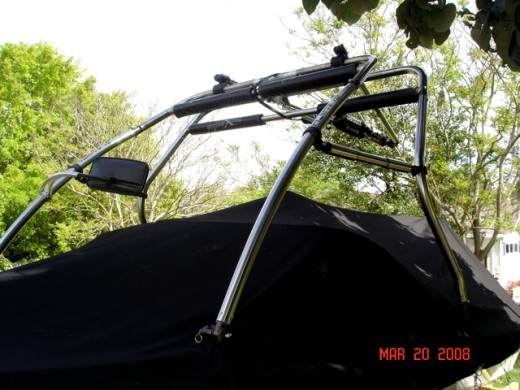 Front View of Stainless Steel Pro X Series Cross Bar Tower