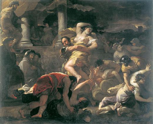 Luca Giordano - Il ratto delle Sabine (The rape of the Sabine women)
