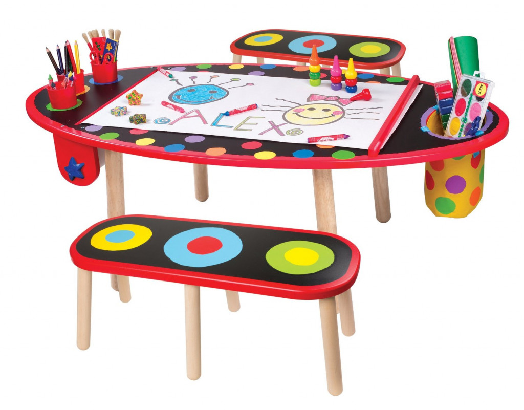 Choosing A Kids Art Table With Storage