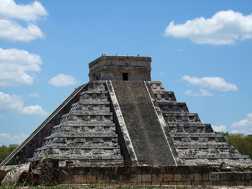 One of the most popular Mayan Ruin sites, Chichen Itza. Ferries leave from Cozumel every hour to take tourists to the mainland so they can experience this wonder.