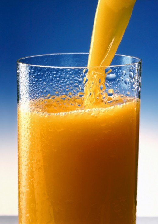 1 Cup of orange juice = 120mg Vitamin C