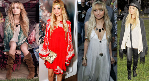 Nicole Richie is always bohemian, and very often very chic.