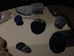 A crystal grid for dreaming laid on a mirror is a great inducer of dreams. The mirror helps to get dreams flowing.